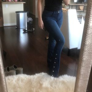 J BRAND Charlene delight flair button jean